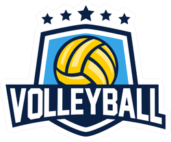 Volleyball Shield Sticker