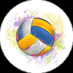 Volleyball Splatter Painting Sticker