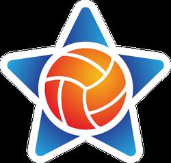 Volleyball Star Logo Sticker