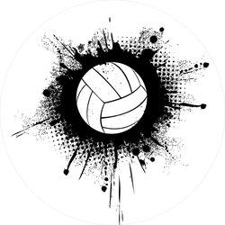 Volleyball With Grunge Splatter Sticker