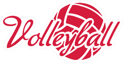 Volleyball Word With Ball Sticker