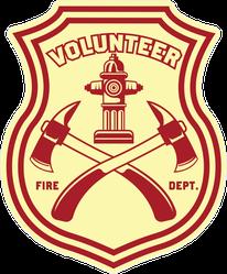 Volunteer Firefighter Logo Badge Sticker