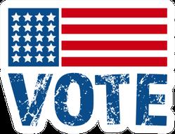 Vote 2020 On American Flag Sticker