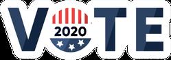 Vote Inscription With American Flag Sticker