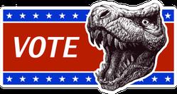 Vote Poster With T-rex Head Sticker