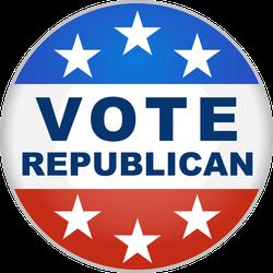 Vote Republican Button Sticker