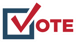 Voting 2020 Icon With Vote Lettering Sticker