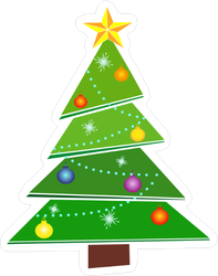 Wacky Christmas Tree Sticker