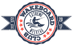 Wakeboard Club In Vintage Sticker