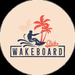 Wakeboard Club In Vintage Style Sticker