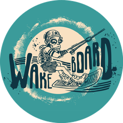 Wakeboard Illustration Sticker