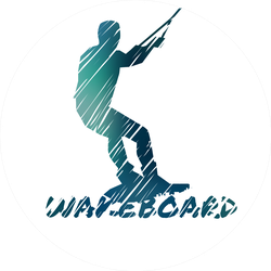 Wakeboard Illustration With Man Sticker