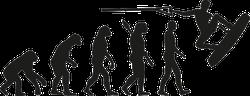 Wakeboarder Evolution Sticker