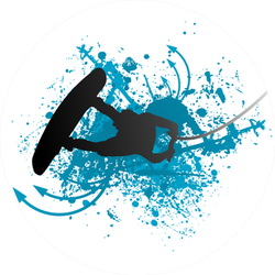 Wakeboarder In Action Sticker