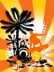 Wakeboarder in Summer Sticker