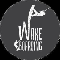 Wakeboarding Illustration Sketch Sticker