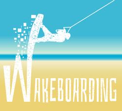 Wakeboarding Illustration Sticker