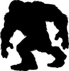Walking Bigfoot Silhouette Sticker