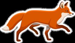 Walking Fox Sticker