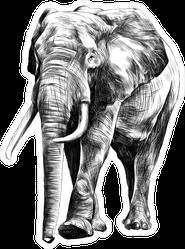 Walking Full Elephant Sticker