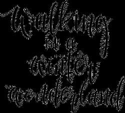 Walking In A Winter Wonderland Phrase Sticker