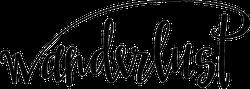 Wanderlust Script Sticker