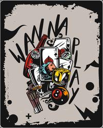 Wanna Play Street Style Sticker
