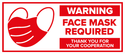 Warning Face Mask Required Sticker