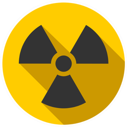 Warning Radioactive Sign Danger Symbol Sticker