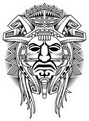 Warrior Tribal Mask Sticker