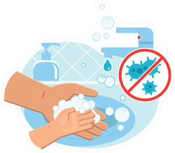 Wash Hands Image Sticker