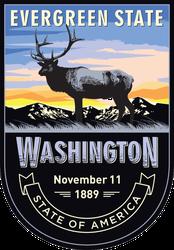 Washington Banner Sticker
