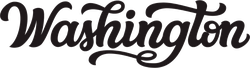 Washington Calligraphy Sticker