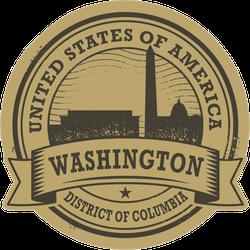 Washington DC Seal Sticker
