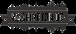 Washington DC Skyline Banner Sticker