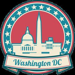 Washington DC Skyline Seal Sticker