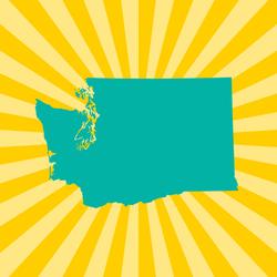 Washington State Sunburst Sticker