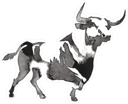 Water Buffalo Monochrome Painting Sticker