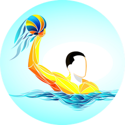 Water Polo Ball Colorful Sticker