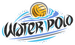 Water Polo Design Logo Sticker