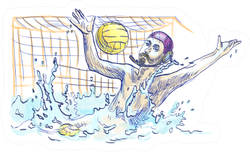 Water Polo Goalkeeper Sketch Sticker