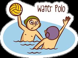 Water Polo Illustration Cartoon Sticker