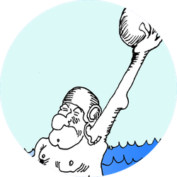 Water Polo Old Man In The Sea Sticker