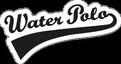 Water Polo Word Retro Sticker