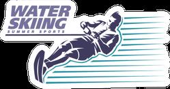 Water Skiing. Sport Emblem Sticker