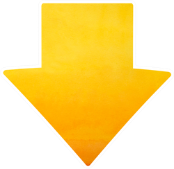 Watercolor Arrow In Yellow Color Sticker