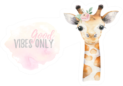 Watercolor Baby Giraffe Art Sticker