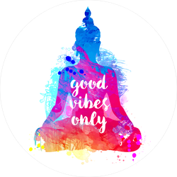 Watercolor Buddha Good Vibes Only Sticker