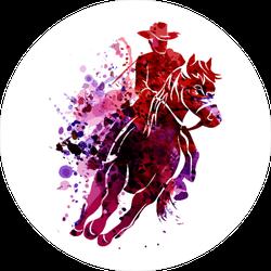 Watercolor Cowboy Sticker