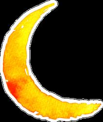 Watercolor Crescent Moon Sticker